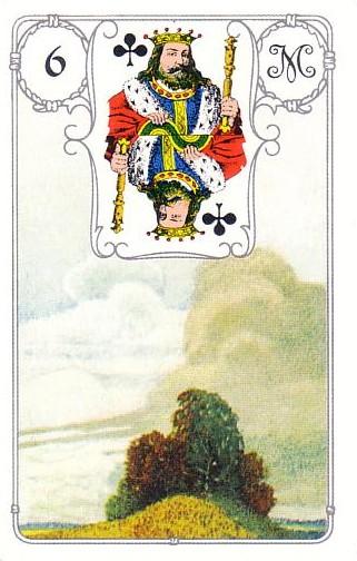 Resultado de imagem para baralho cigano carta 6 rei de paus nuvens